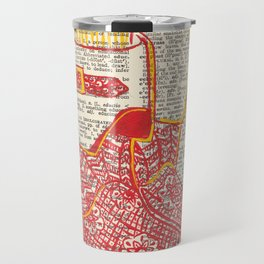 Bunker Boots (Firemen's boots in red and yellow) Travel Mug