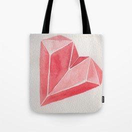 Crystal/Origami Heart Tote Bag