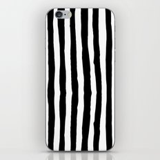 Black and White Vertical Stripes iPhone Skin