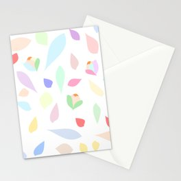 Colorful pastel leaves Stationery Cards
