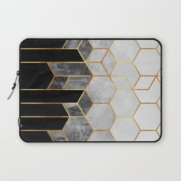 Charcoal Hexagons Laptop Sleeve