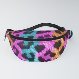 Leopard Print - Tri Color Fanny Pack