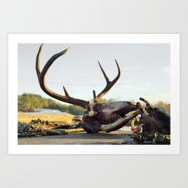buck kill Art Print