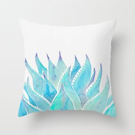 Blue Agave Throw Pillow