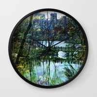 central park Wall Clocks featuring Central Park  by aLovelyNotion