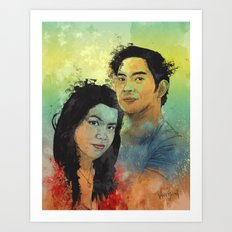 Gidget and Nino Art Print