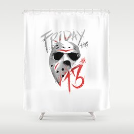 Friday The 13th Shower Curtain