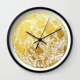 La Luna Moon Print Wall Clock