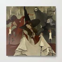 The Witches Ball Metal Print