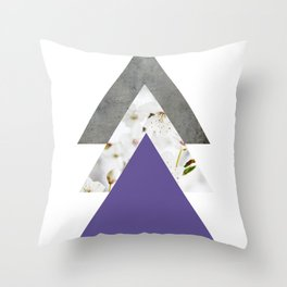 Ultra Violet Blossoms Arrows Throw Pillow