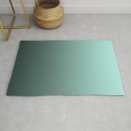 Grey, turquoise Ombre. Rug