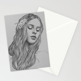 Patience - a digital drawing Stationery Cards