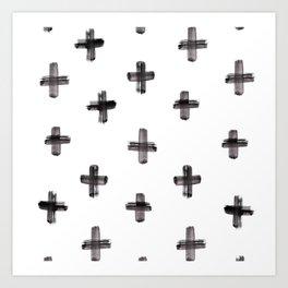 plus sign pattern Art Print