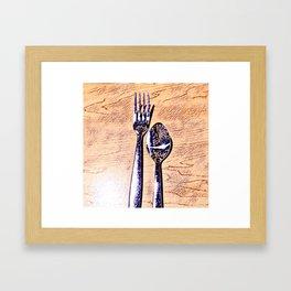 Forks and knives Framed Art Print