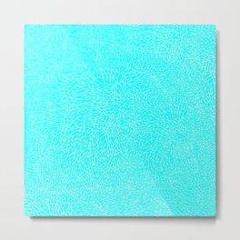 scales, white on lt blue Metal Print