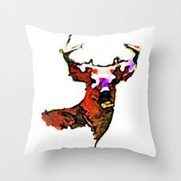 Dear. Deer.  Throw Pillow