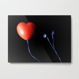 Musical heart Metal Print