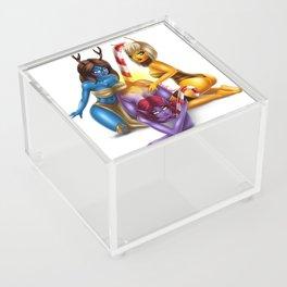 Buzzing Girls Christmas Candy Acrylic Box