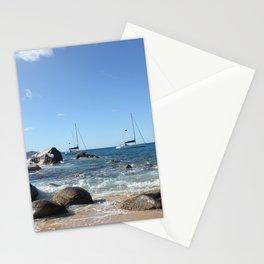 Sailing Boats at the Baths, BVI Stationery Cards