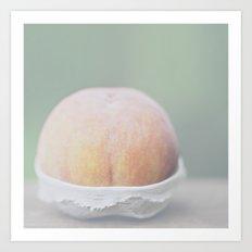 Cheeky Peach Art Print