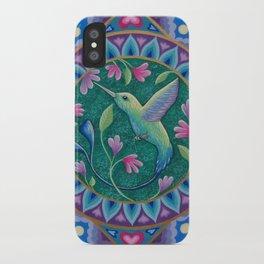 Hummingbird Mandala iPhone Case