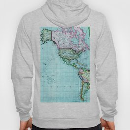 Turquoise Map Pattern Hoody