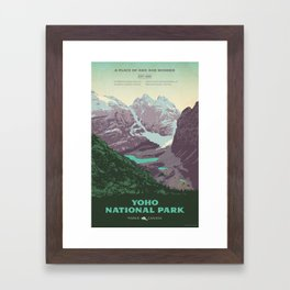 Yoho National Park Poster Framed Art Print