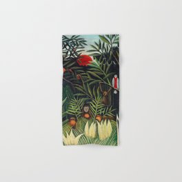 Henri Rousseau - Monkeys and Parrot in the Virgin Forest Hand & Bath Towel