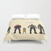 guardians Duvet Covers featuring GUARDIANS OF THE GALAXY by Kaitlin Smith