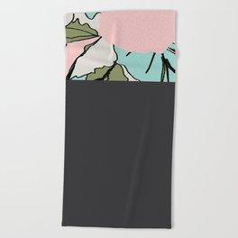 Back Soon (Olive Drab) Beach Towel