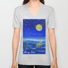 Ocean at Night Unisex V-Neck