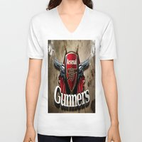 arsenal V-neck T-shirts featuring ARSENAL by Acus