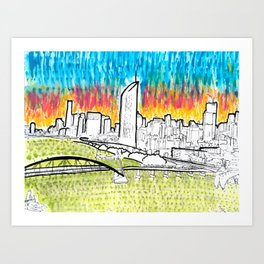 BRISBANE POSTCARD SERIES 021 Art Print