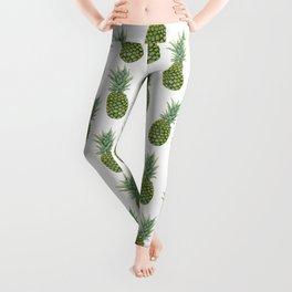 Watercolor pineapple print Leggings