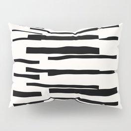 Organic No. 13 Black & Off-White #minimalism #decor #society6 Pillow Sham