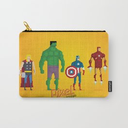 Super Heroes - Pixel Nostalgia Carry-All Pouch