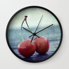 Cherry Kiss Wall Clock