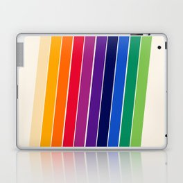 Awe Yeah - 70s style retro throwback 1970s rainbow colorful trendy graphic art Laptop & iPad Skin