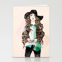 boho Stationery Cards featuring Boho Chic  by Felicia Cirstea