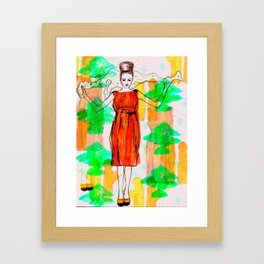 Lady in Orange Framed Art Print