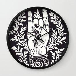 Mano Cornuto Wall Clock