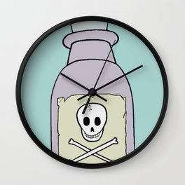 Poison Bottle - Teal Wall Clock
