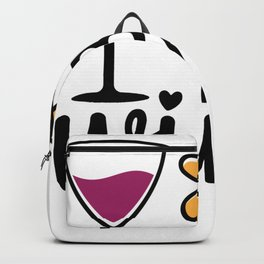 Valentimes Day Bee WIne Valentines Day Gift Backpack
