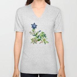 Alpine Flowers - Gentian, Edelweiss Unisex V-Neck