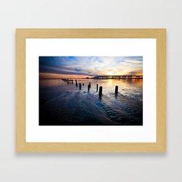 Gulf Coast Sunset Framed Art Print