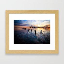 Gulf Coast Sunset Framed Art Print