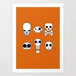 All skulls, all the time. Art Print