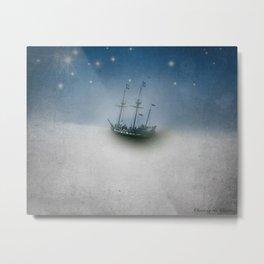 Pirate Ship Tall Ship - Charting the Clouds Metal Print