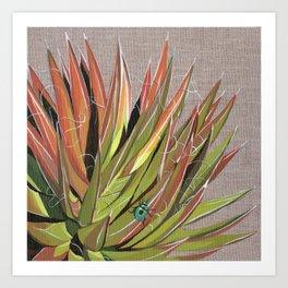 Yucca filifera with beetle Art Print