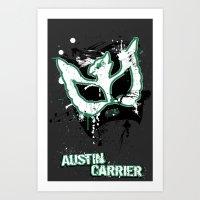 Austin's Paint Mask Art Print